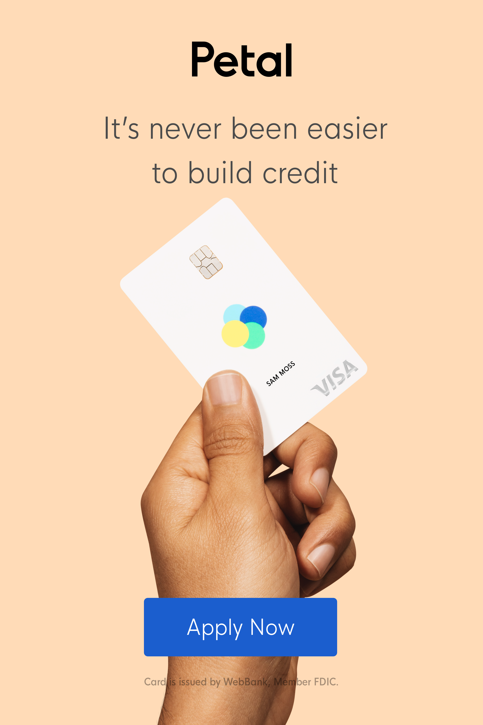 Petal Is The Perfect Credit Card For Anyone Looking For An Easier Way To Build Credit Credit Limits Range From Credit Card Design Credit Card App Build Credit