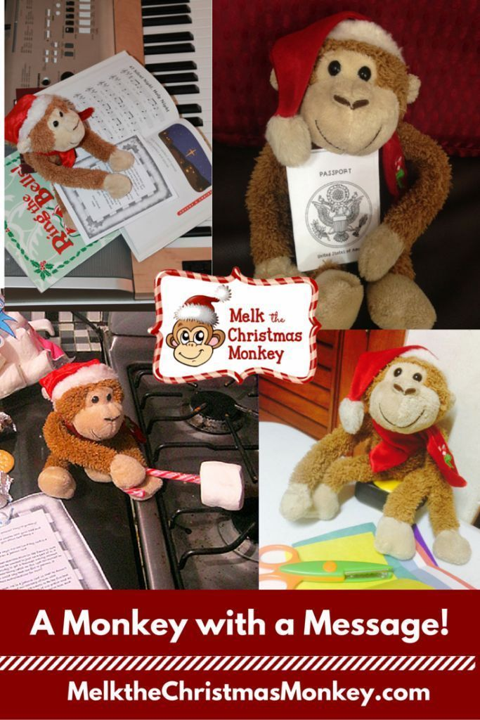 He's a monkey with a message. Let Melk fill your Advent days with Bible based activities centered on God. http://Melkthechristmasmonkey.com