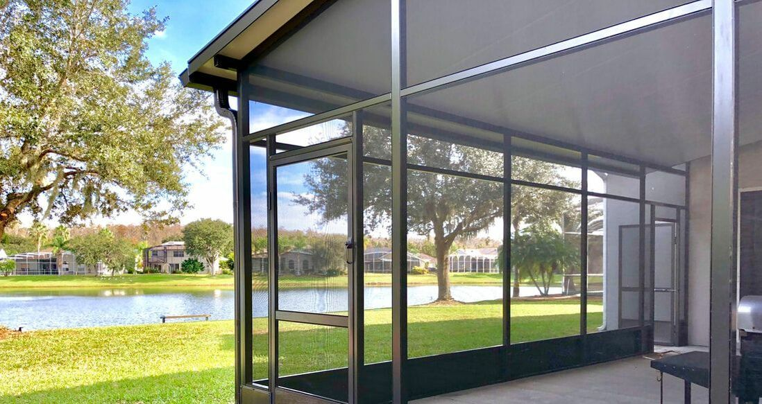 Screened In Patio By First Quality Screen Inc On Www Firstqualityscreen Com Screen Enclosures Florida Room