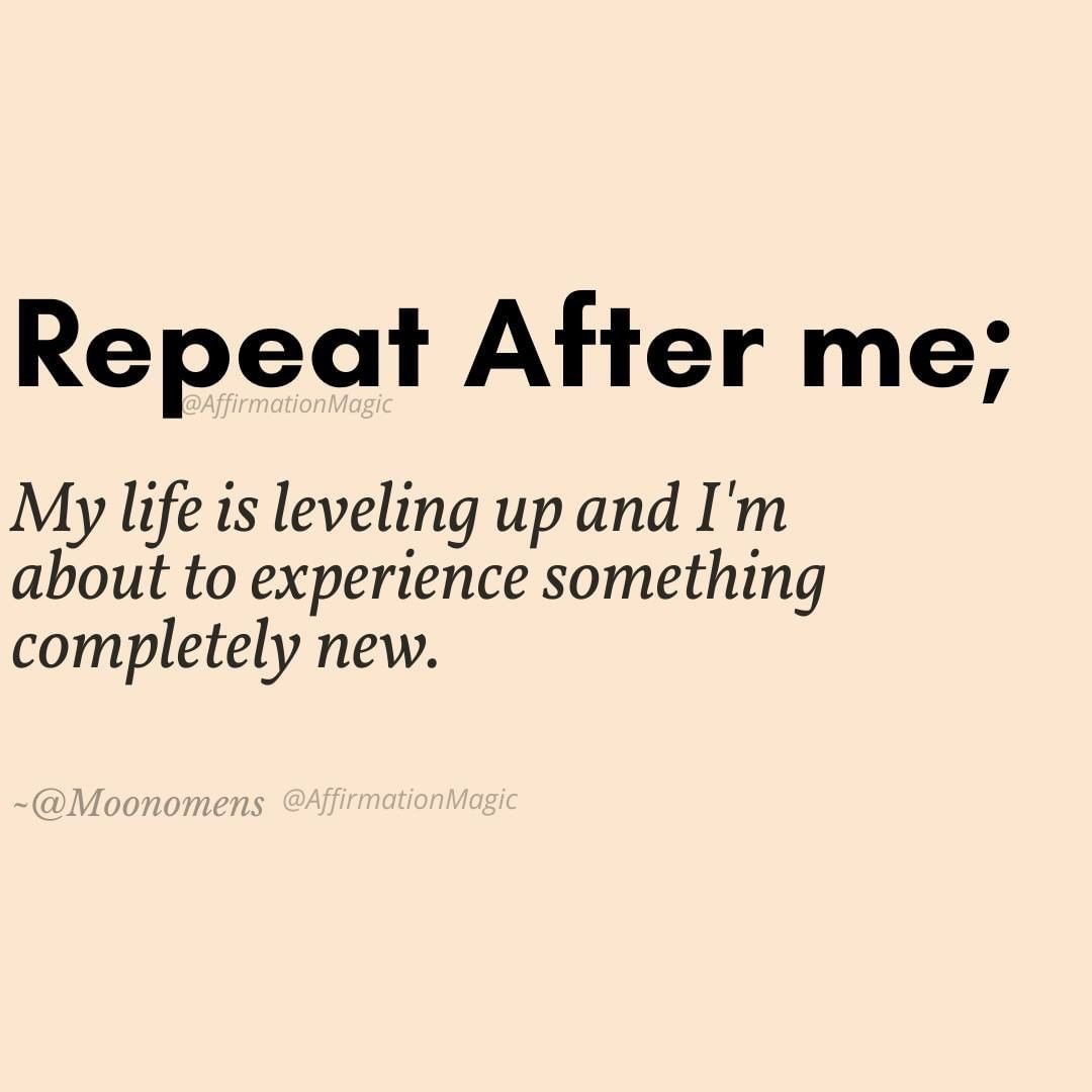 Repeat after me | Law Of Attraction