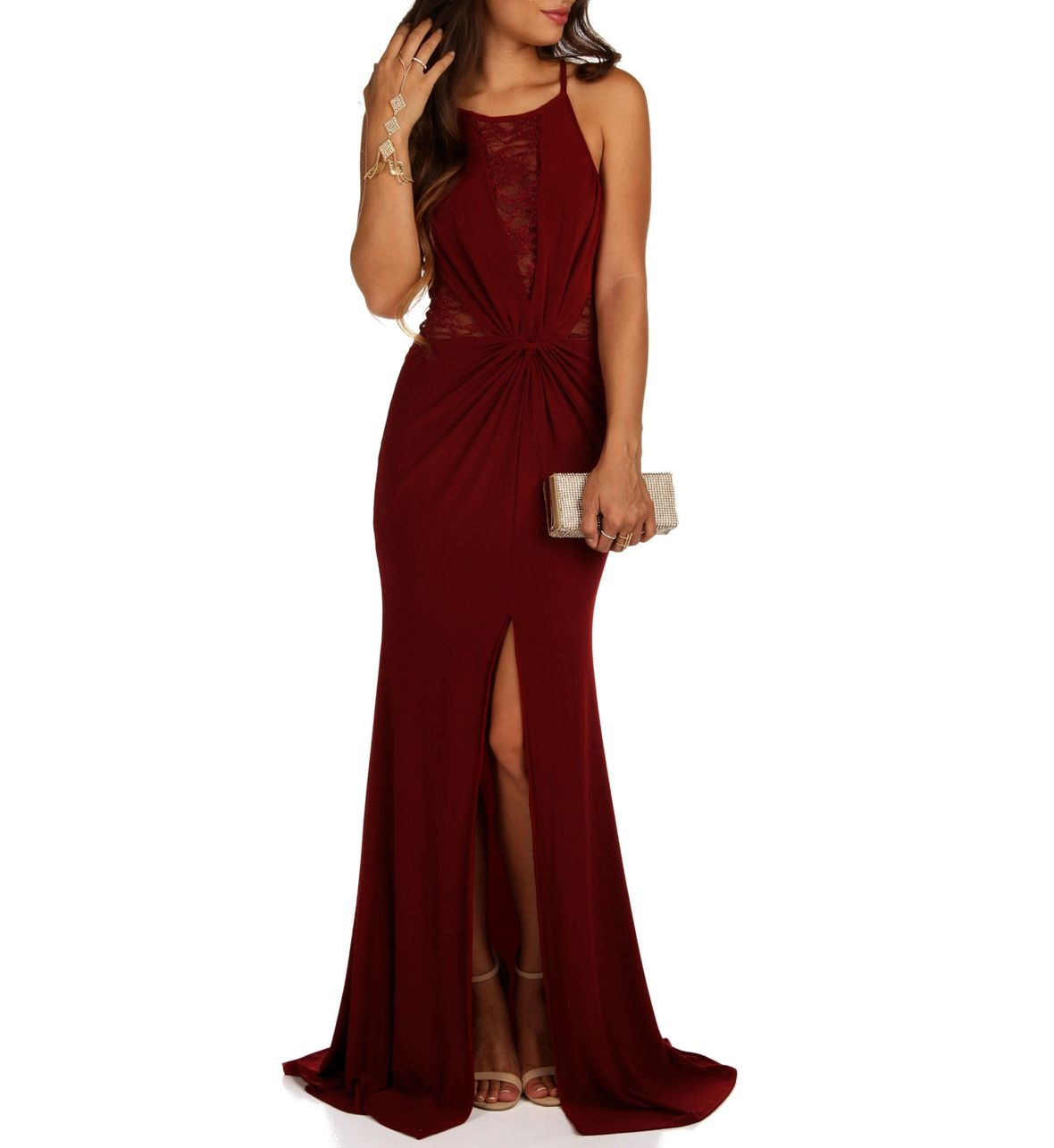 Preorder ruby burgundy homecoming dress at windsorstore prom