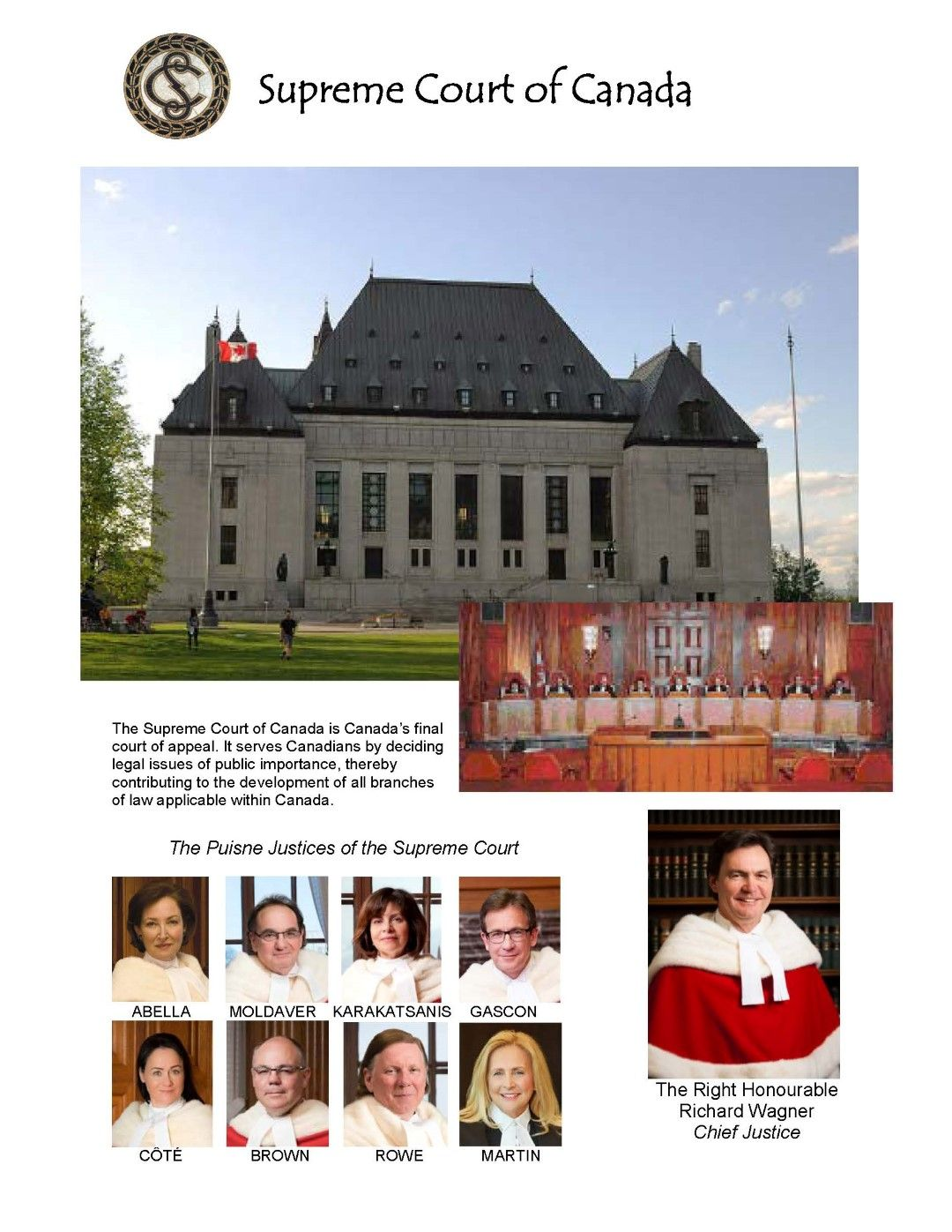 The Supreme Court of Canada Canada, Canadian history