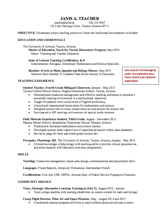 Sample Preceptor Physiology Resume  HttpExampleresumecvOrg