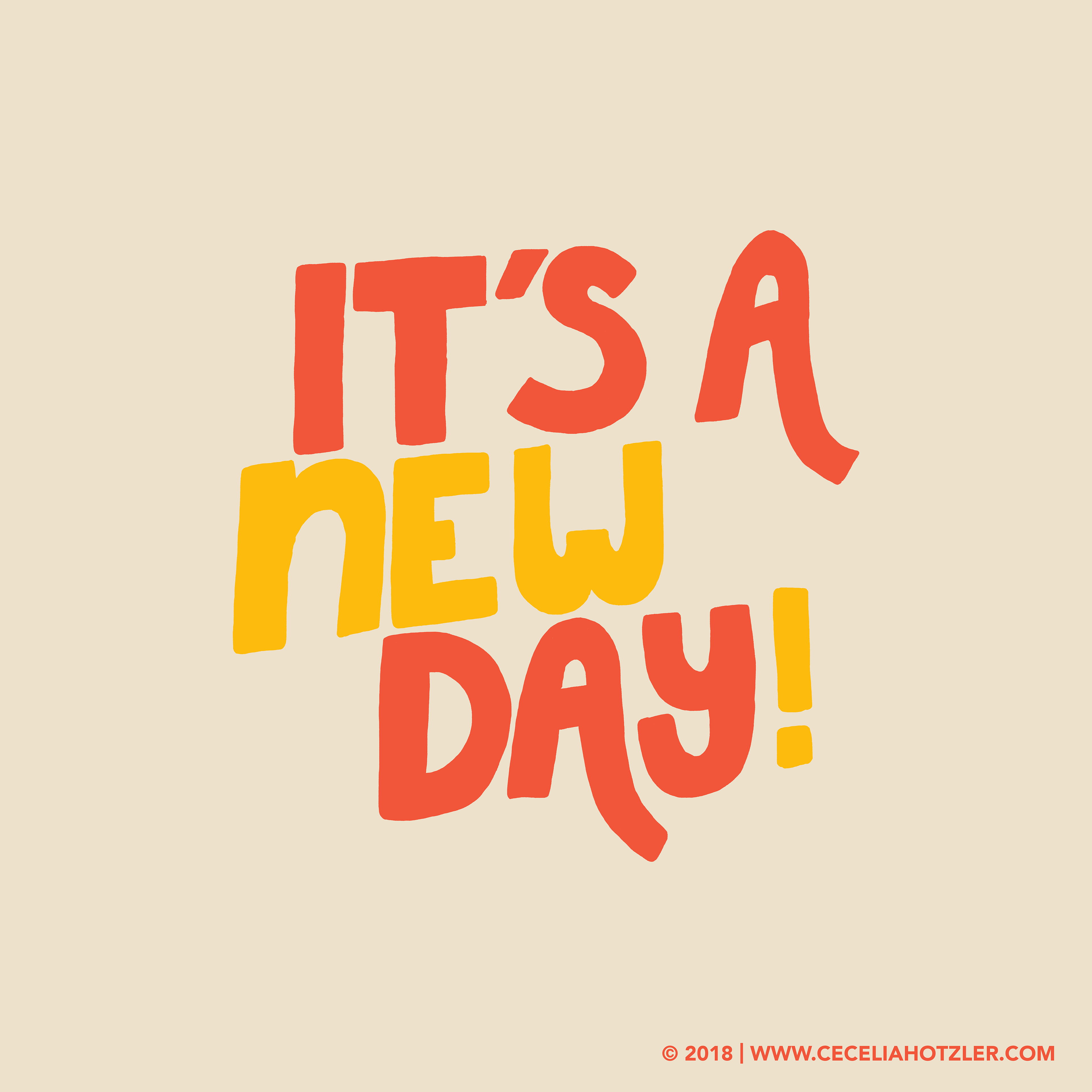 It S A New Day Typography Illustration On Behance Cool Words Happy Words Typography