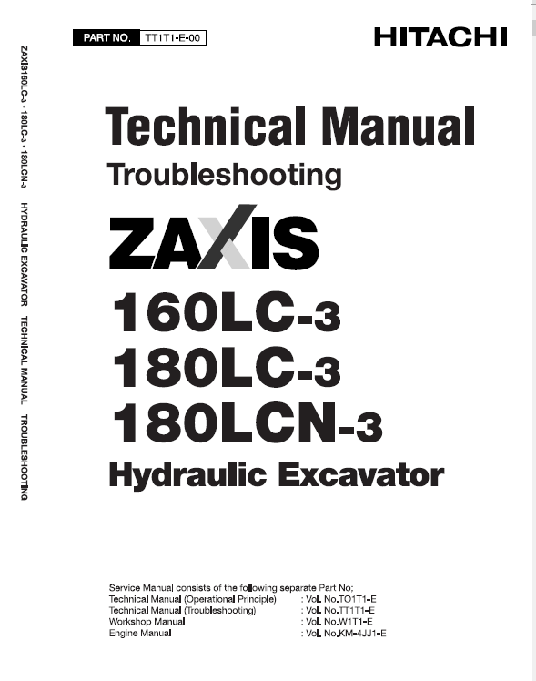 Hitachi Zaxis 160lc 3 And Zaxis 180lc 3 Excavator Service Manual Hitachi Electrical Circuit Diagram Excavator
