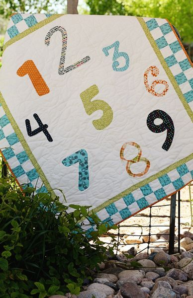 Seriously cute kid's quilt - simple too!