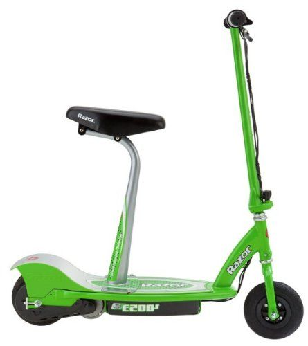 Razor Electric Scooter With Seat >> Razor E200s Seated Electric Scooter Green 37 X 16 X 42 Inch