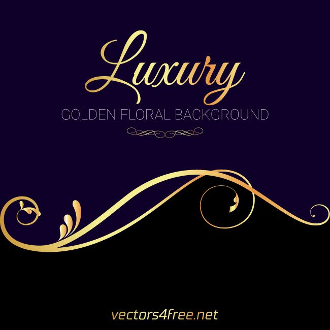 Get Free Luxury Golden Floral Background Vector Fully