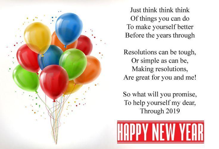 Happy New Year 2019 : Best Happy New Year Resolution Poem ...