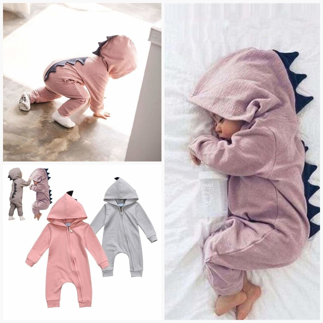 60cbe8ba9b56 Every little girl needs the Baby Girl Dinosaur Romper! This adorable dinosaur  romper is perfect