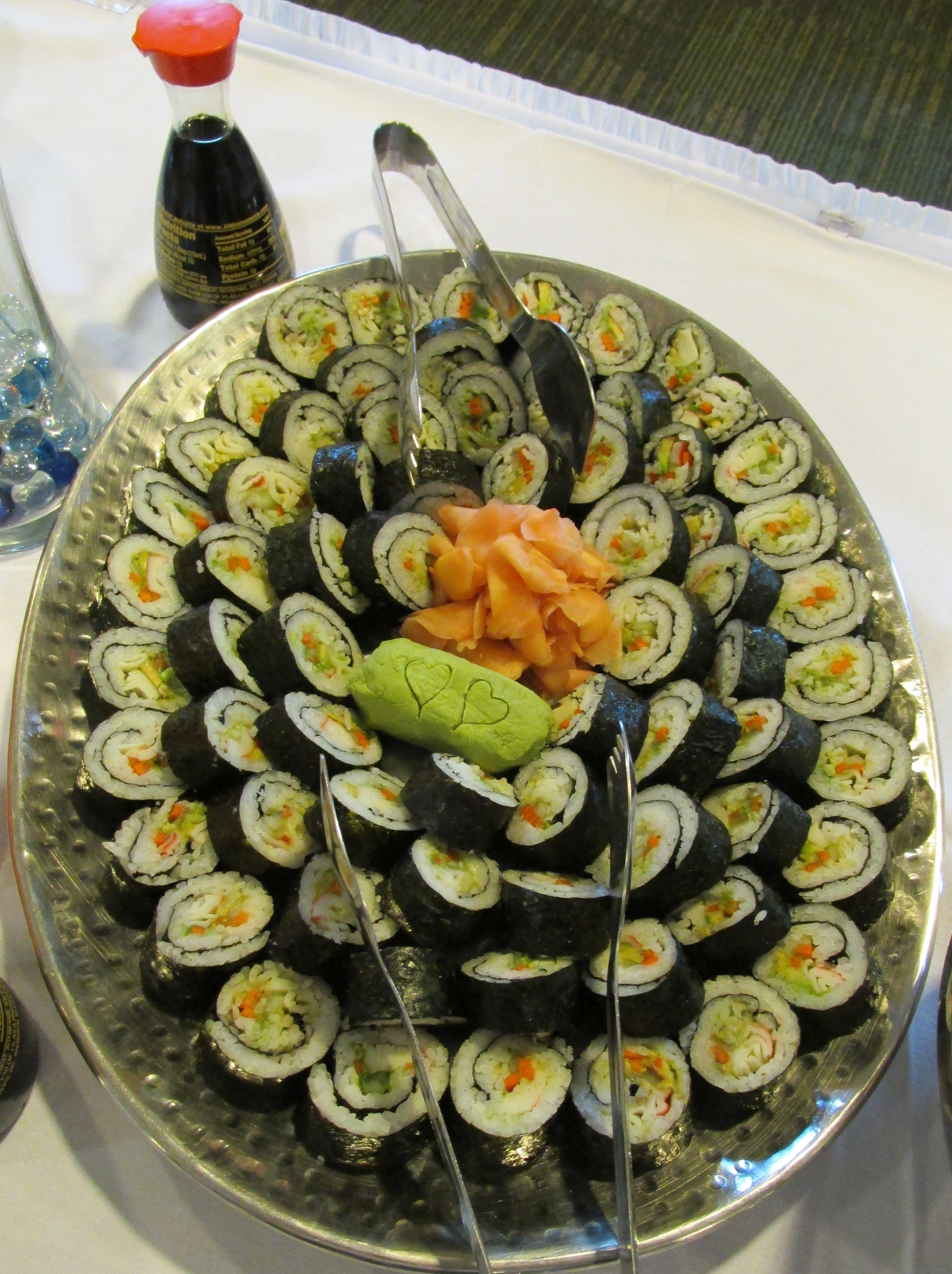California Roll Platter | California roll, Food, Platters