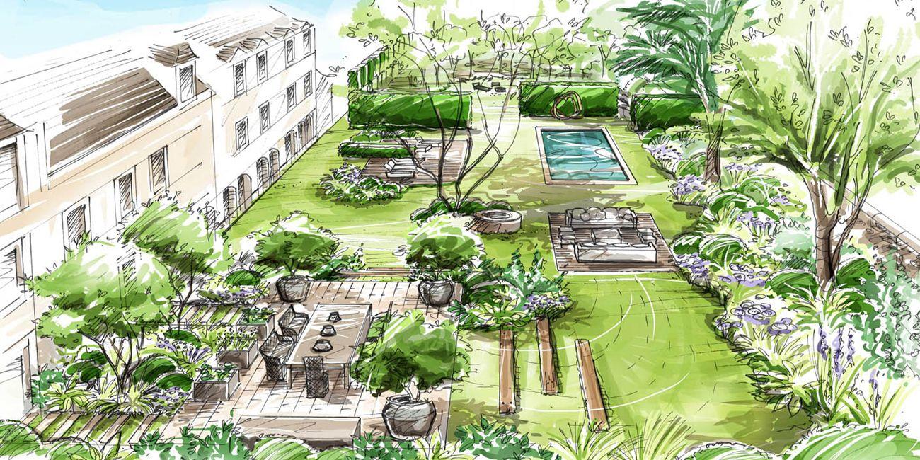 jardin vaux le vicomte loup co landscape design rendering pinterest skisser v xter och. Black Bedroom Furniture Sets. Home Design Ideas