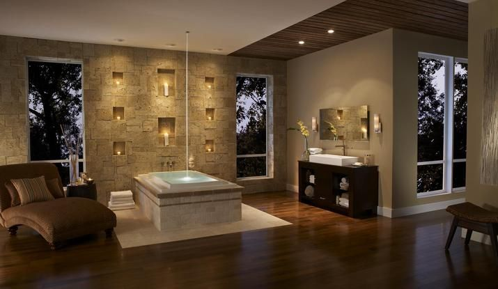Coastalreef Master Bathroom Layout Dream Bathrooms Stone Walls