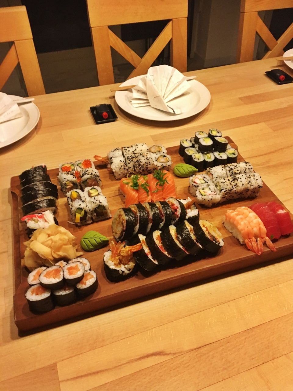 My friends birthday dinner was absolutely delish sushi