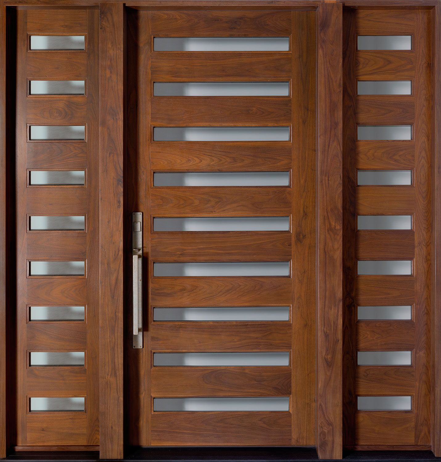 Nice modern exterior doors for home with wooden made and hollow space for ventilation and silver handrails and black floor color  sc 1 st  Pinterest & Nice modern exterior doors for home with wooden made and hollow ...