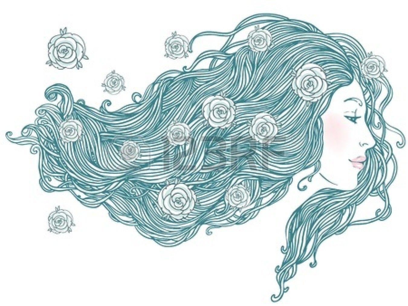 Stock Photo | Capelli illustrazione, Illustrazioni ...