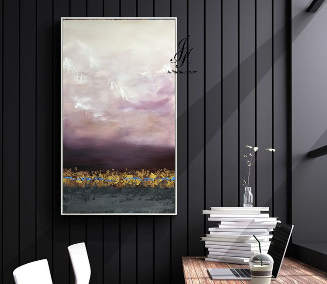 Abstract Painting Landscape Textured Painting on Canvas by Julia ...
