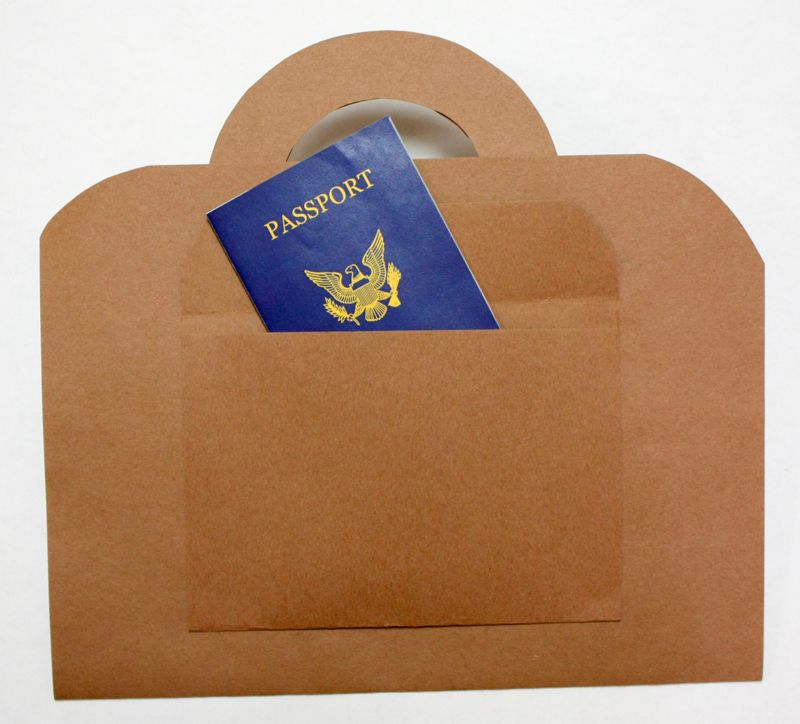 Brown Suitcase Craft with Pretend Passport Closed July \ August - passport template