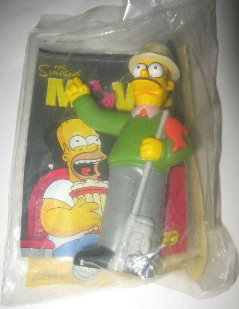 Ned Flanders The Simpsons Movie 2007 Burger King Kids Meal Toy Factory Sealed In 2020 The Simpsons Movie Simpsons Treehouse Of Horror Simpsons Toys