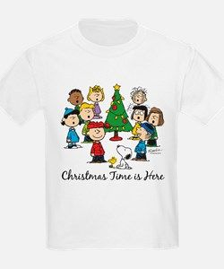 christmas time is here t shirt for the peanutspeanuts gangcharlie brown