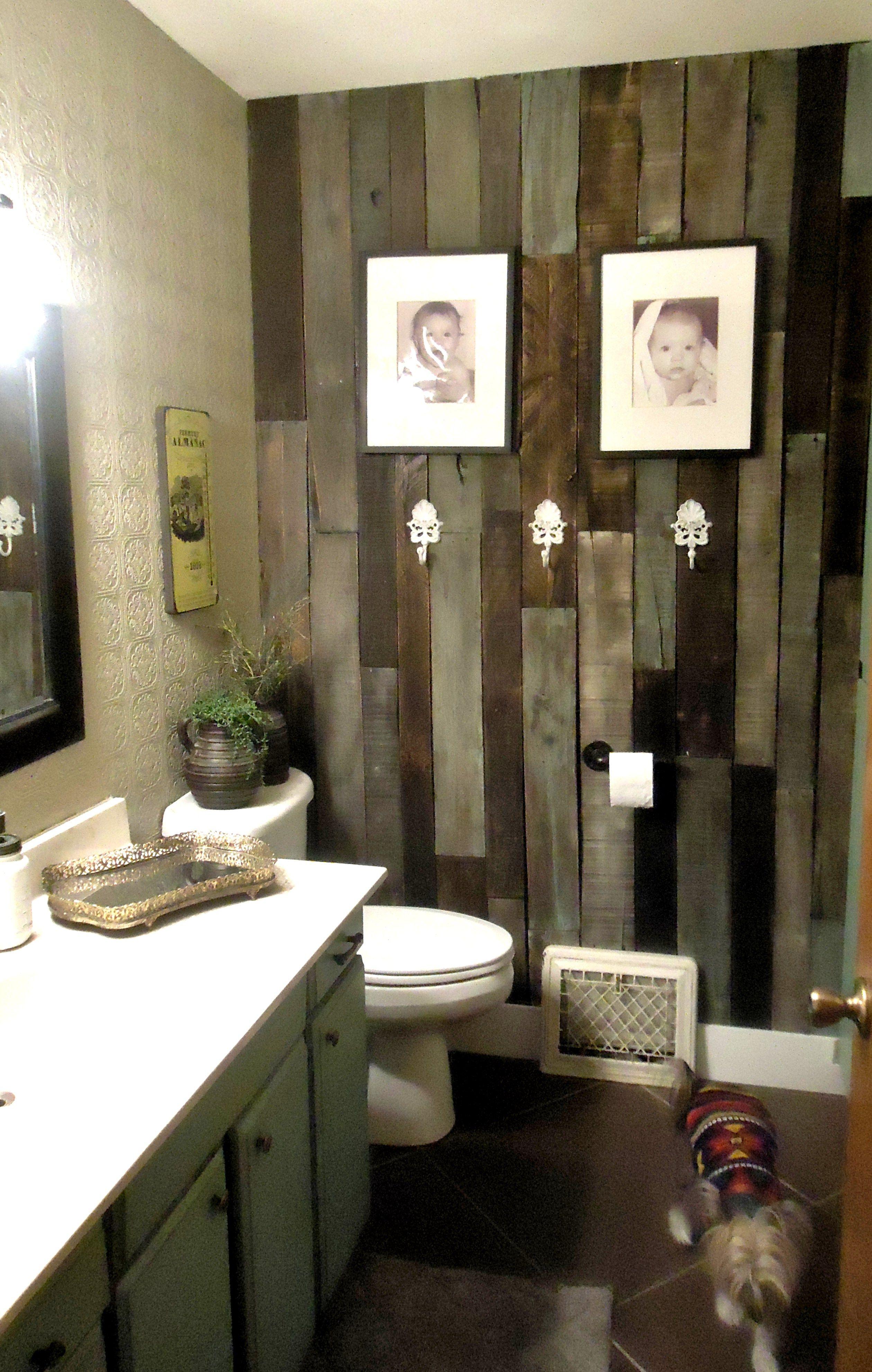 statement walls  wood wall bathroom wood pallet wall