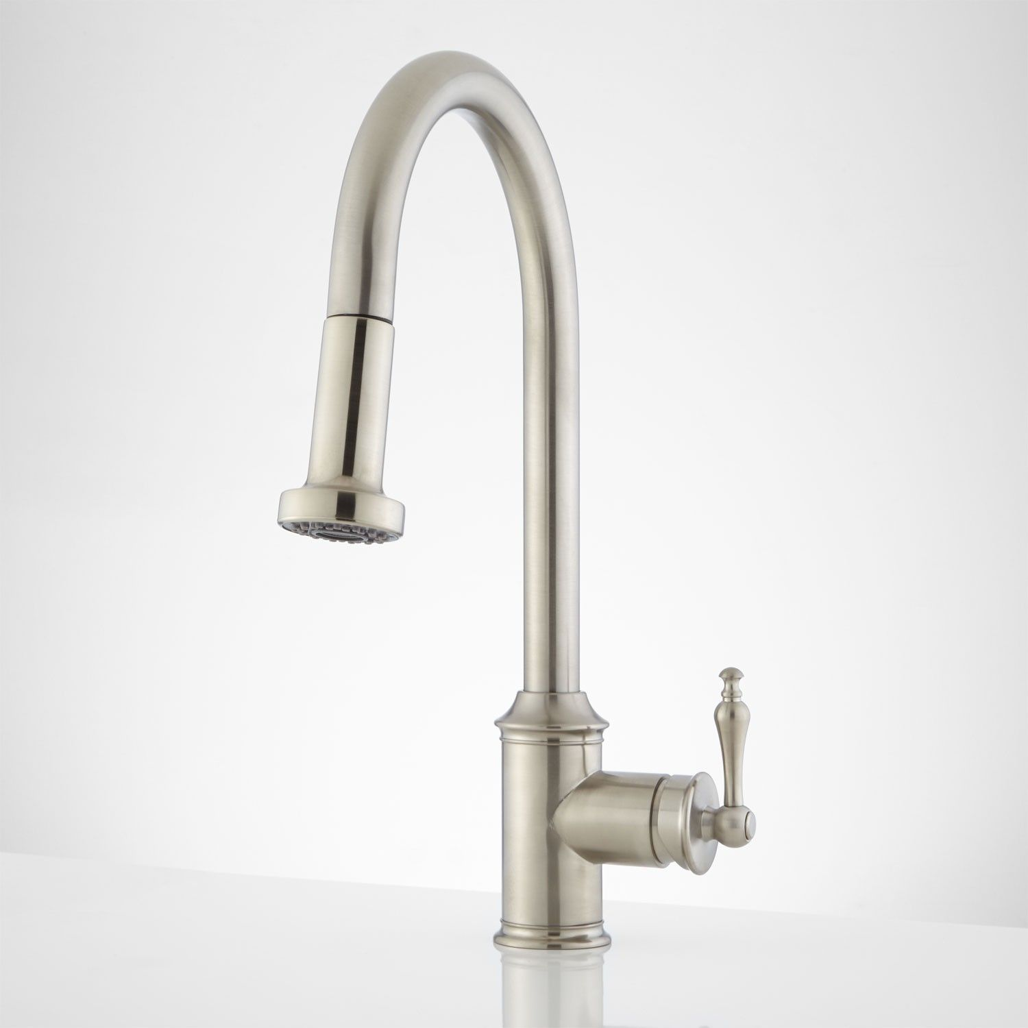 pull faucet design nickel latest kitchen spring down polished the homy