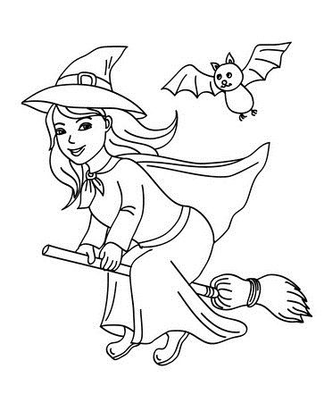 witch coloring pages 1