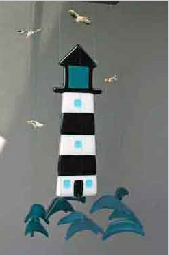 Fused Glass Lighthouse