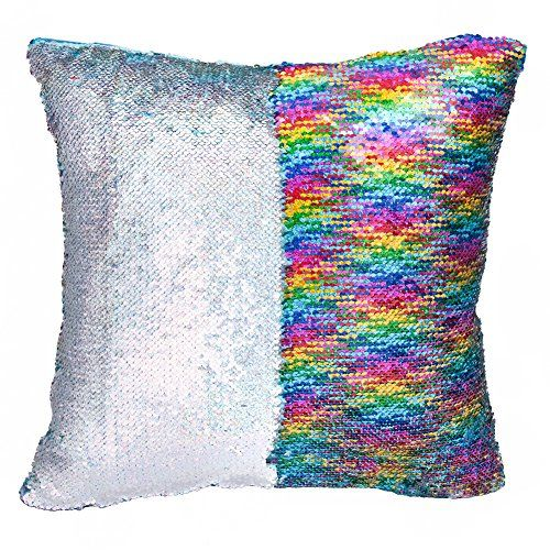 magic mermaid pillow cover reversible sequins color changing pillow case funny home decoration - Color Changing Pillow