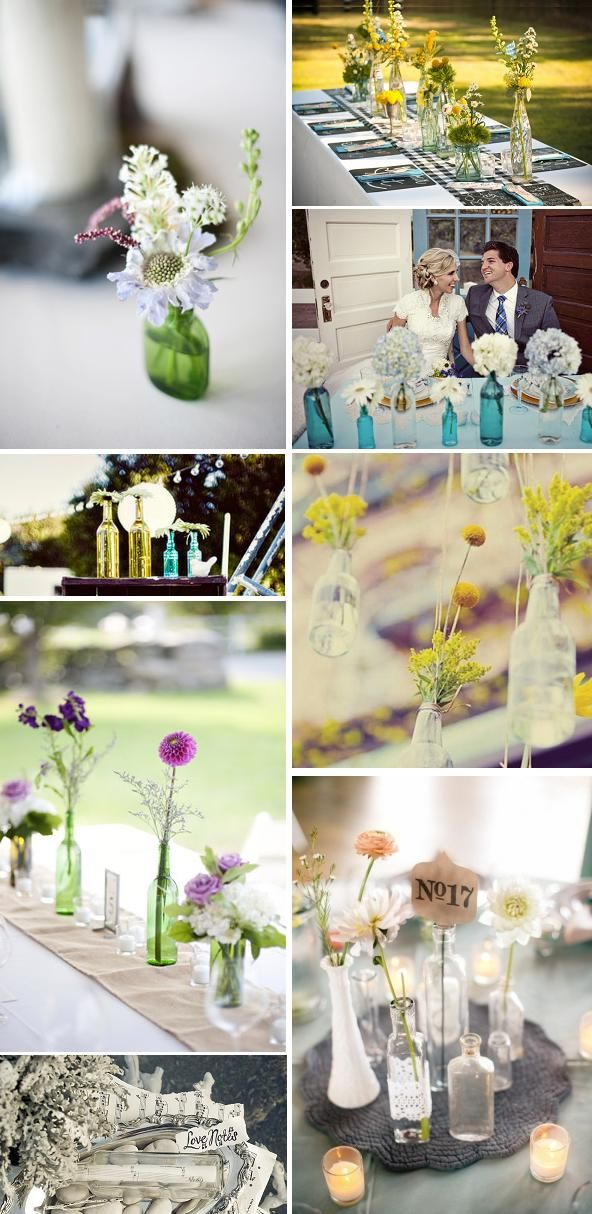 Book de ideas para decorar tu boda con botellas