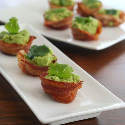 Mini Bacon Guacamole Cups | All Day I Dream About Food