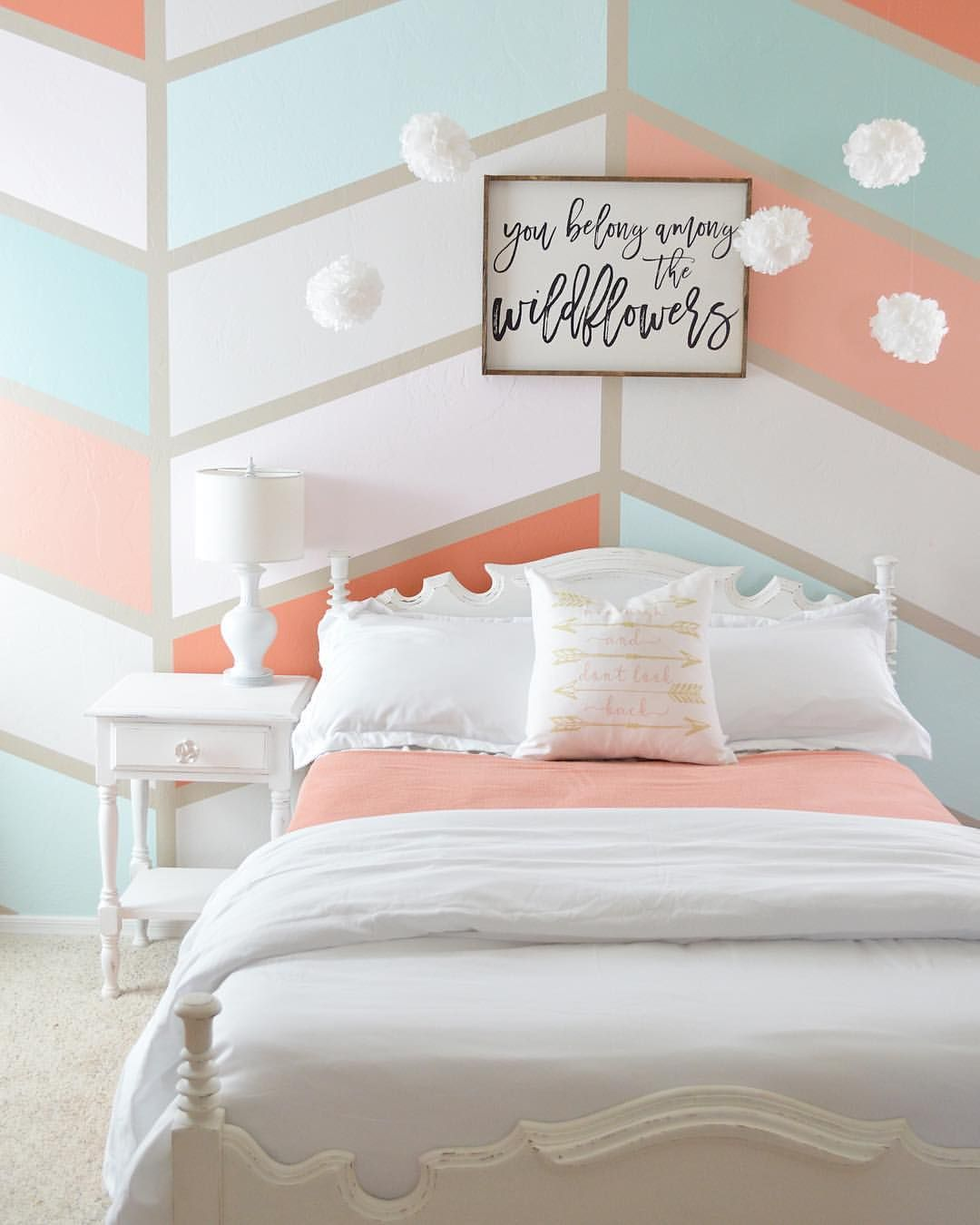 Coral And Gray Bedroom: Grey Girls Rooms, Coral Girls Rooms, Coral Bedroom