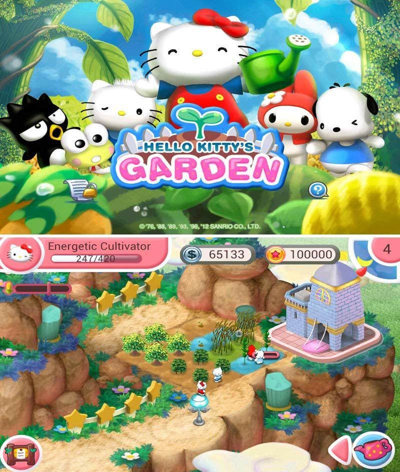 Hello Kitty Garden Game For Your Smart Phone Available At Google Play Store Hamster Names Hello Kitty Kitty