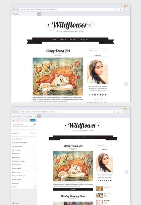 Creative WordPress Theme Wildflower. Tumblr Themes. $19.00 | Tumblr ...