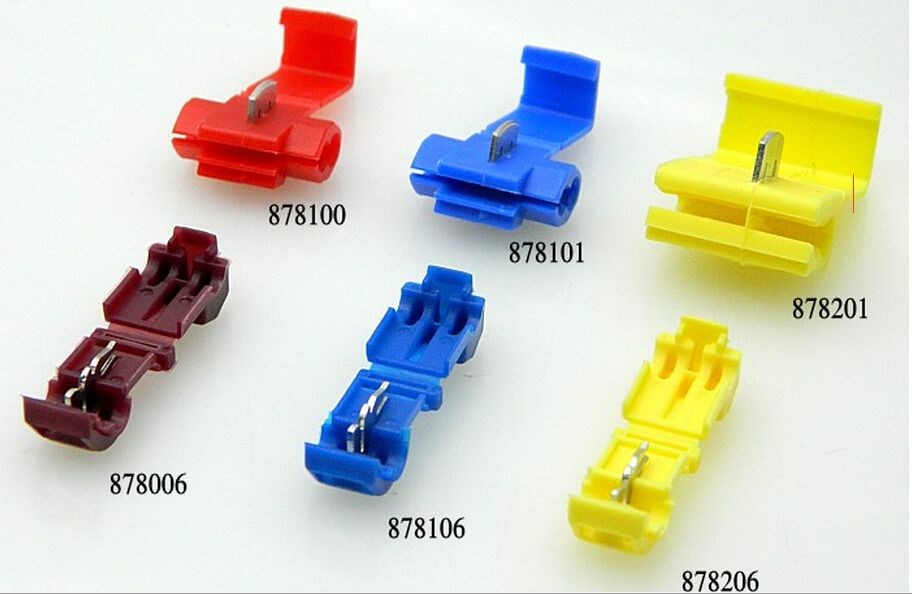50PCS/lot Red 878100 Soft wire clip Folding clasp Sub-line connector ...