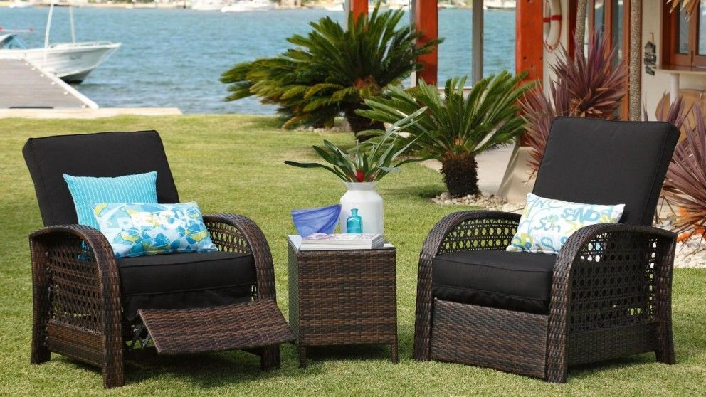 Fraser 3 Piece Outdoor Recliner Setting - Outdoor Lounges - Outdoor Living  - Furniture, Outdoor & BBQs | Harvey Norman Australia - Fraser 3 Piece Outdoor Recliner Setting - Outdoor Lounges - Outdoor