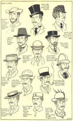 hats shops 1890 men fashion 1880s fashion men hats style 1880 1890 ... b5ca7d67e430