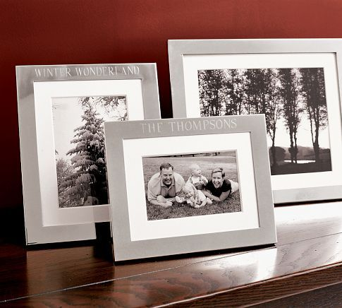 silver plated engravable frames pottery barn another anniversary idea - Engravable Picture Frames