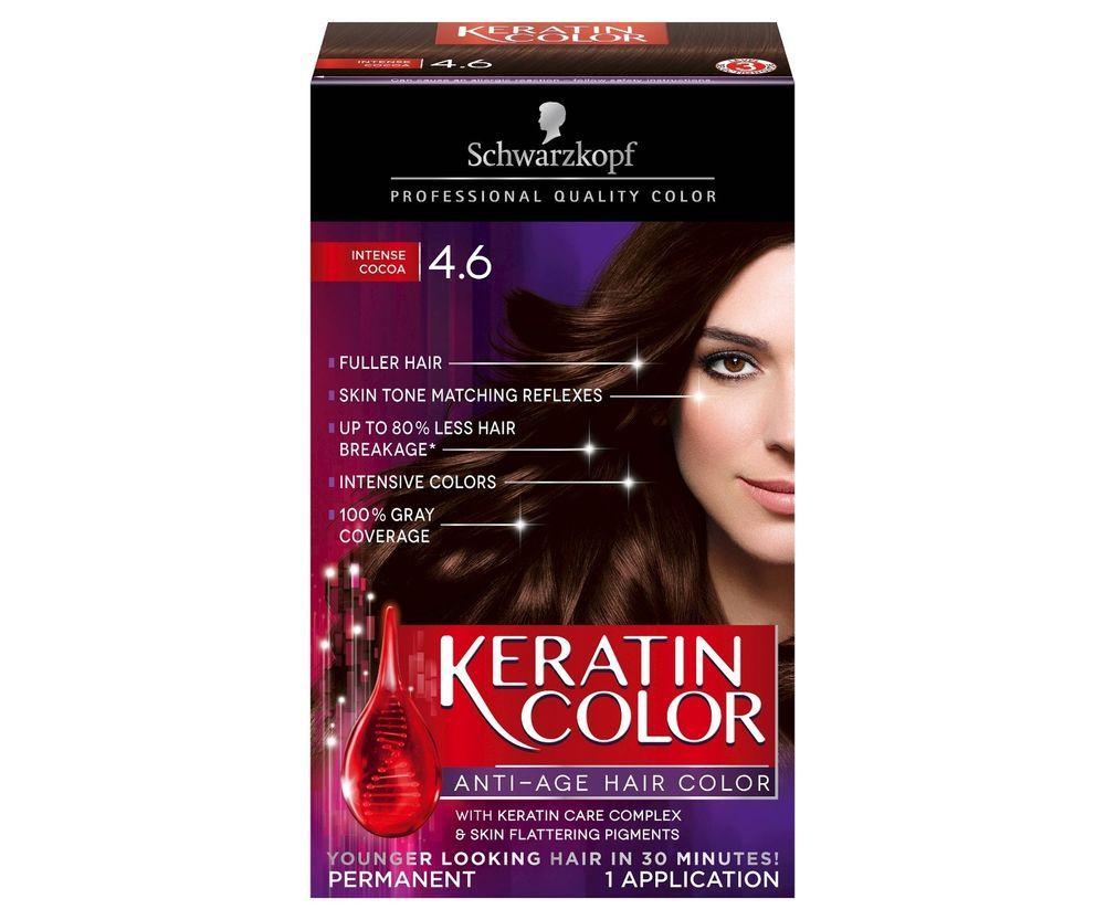 Schwarzkopf Keratin Color Anti Age Hair Color 46 Intense Cocoa