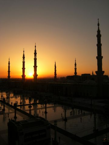 Sunrise At Nabawi Mosque