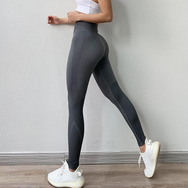 Women Seamless Leggings Gym High Waist Sports Fitness Ladies Elastic Yoga Pants
