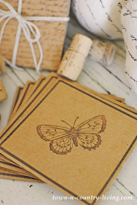 Diy Recycled Cardboard Coasters Town Country Living Diy Coasters Cardboard Coasters How To Make Coasters
