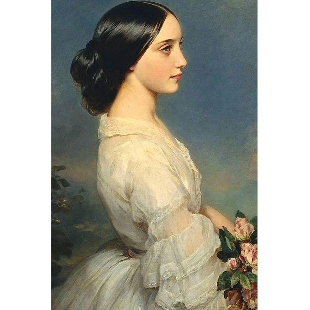 The Corseted Beauty On Instagram Portrait Of Carmen Aguado Duchesse De Montmorency By Franz Xaver Winterhalter Ca 186 Portrait Portrait Peinture Peinture