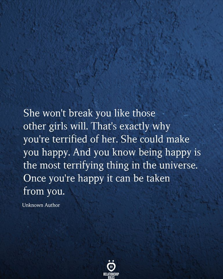 She Won't Break You Like Those Other Girls Will