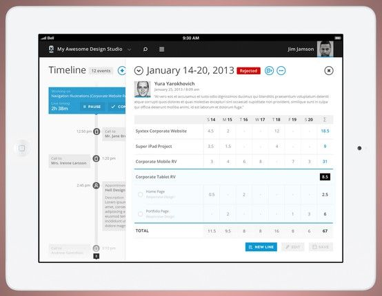 Weekly Timesheet Ui Mobile ui design, News web design, Mobile