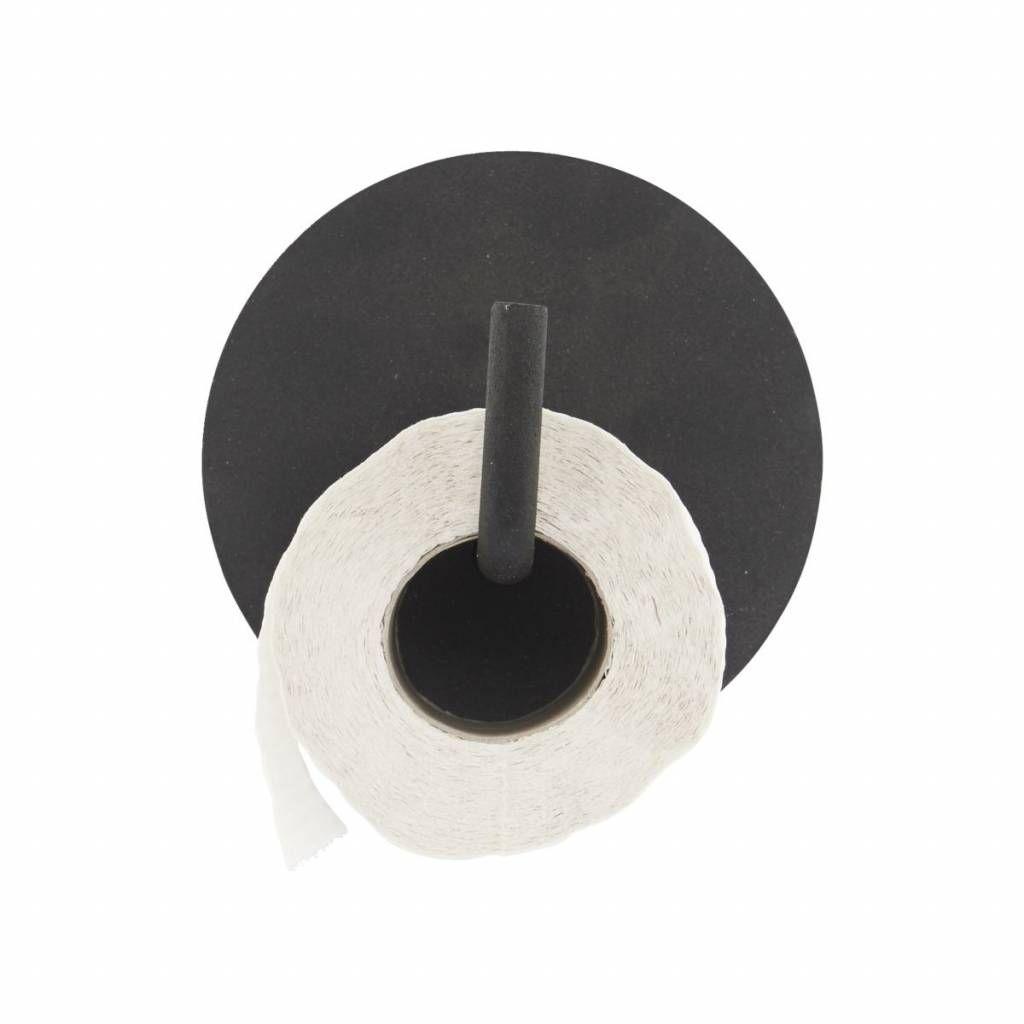 Porte Rouleau Wc Texte Aluminium O13x12 5cm Noir Huisarts Toiletpapierhouder Toiletideeen