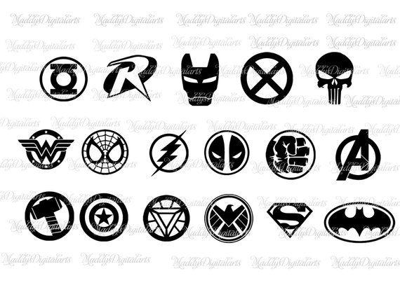 Superheroes SVG, Superhero Dxf, Superhero logo SVG