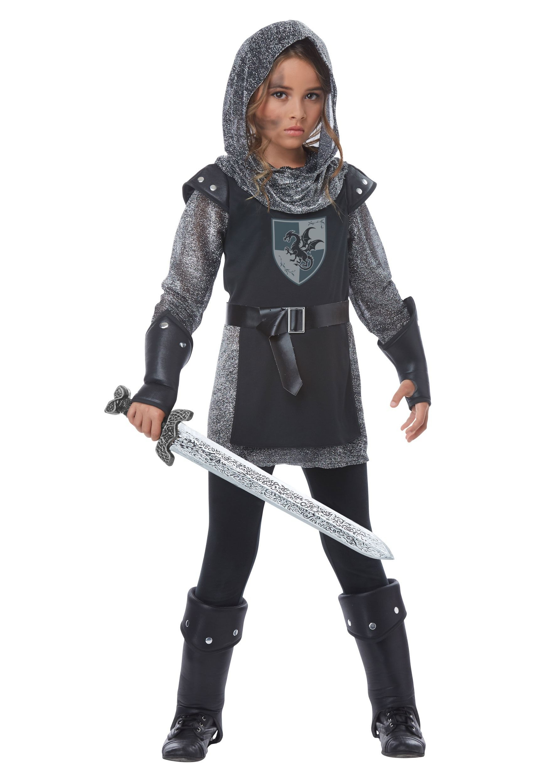 GIRLS NOBLE KNIGHT COSTUME  sc 1 st  Pinterest : female knight costumes  - Germanpascual.Com
