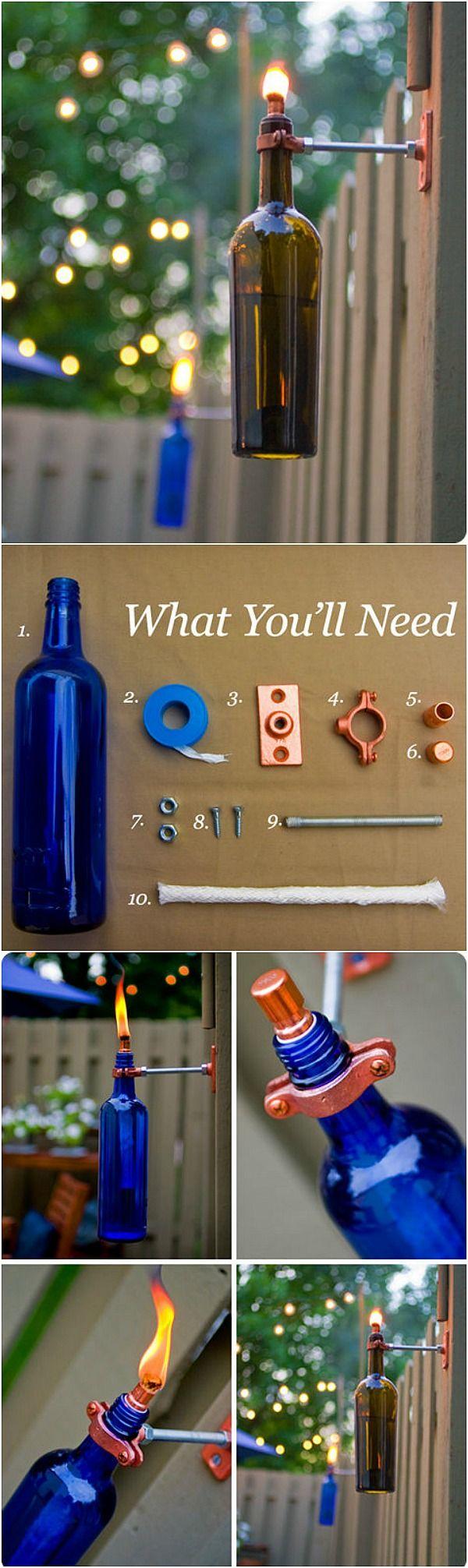 Wine bottle crafts outdoor - Diy Home Projects Backyard Ideas Wine Bottle
