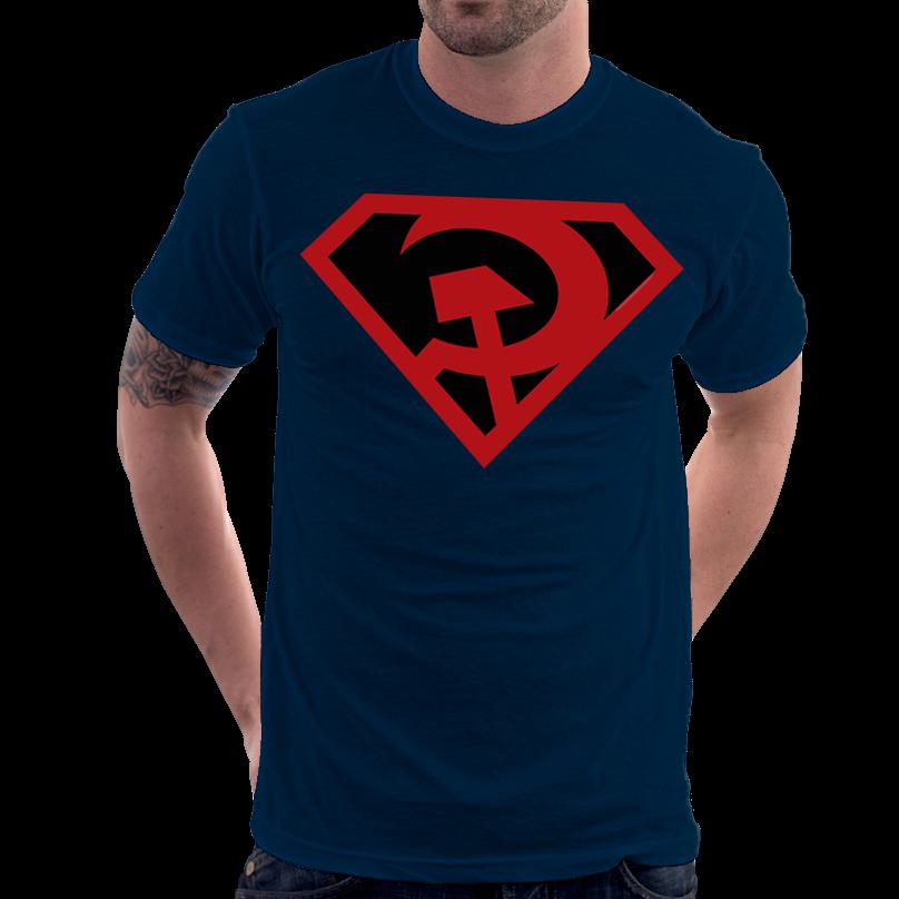 734c5e6a0f805 Camiseta Super Homem Superman Entre A Foice E O Martelo Red Son ...